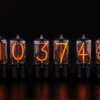 six tubes with black anodized base