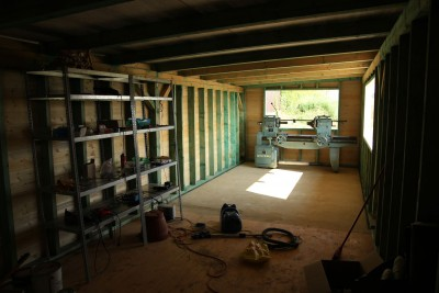 inside the garden shed