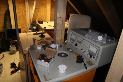 Nixie workshop in the attic