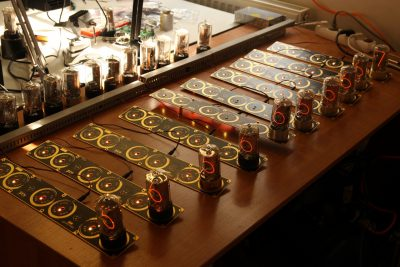 Testing of Zen Nixie Clock boards