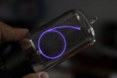 Argon filled nixie tube