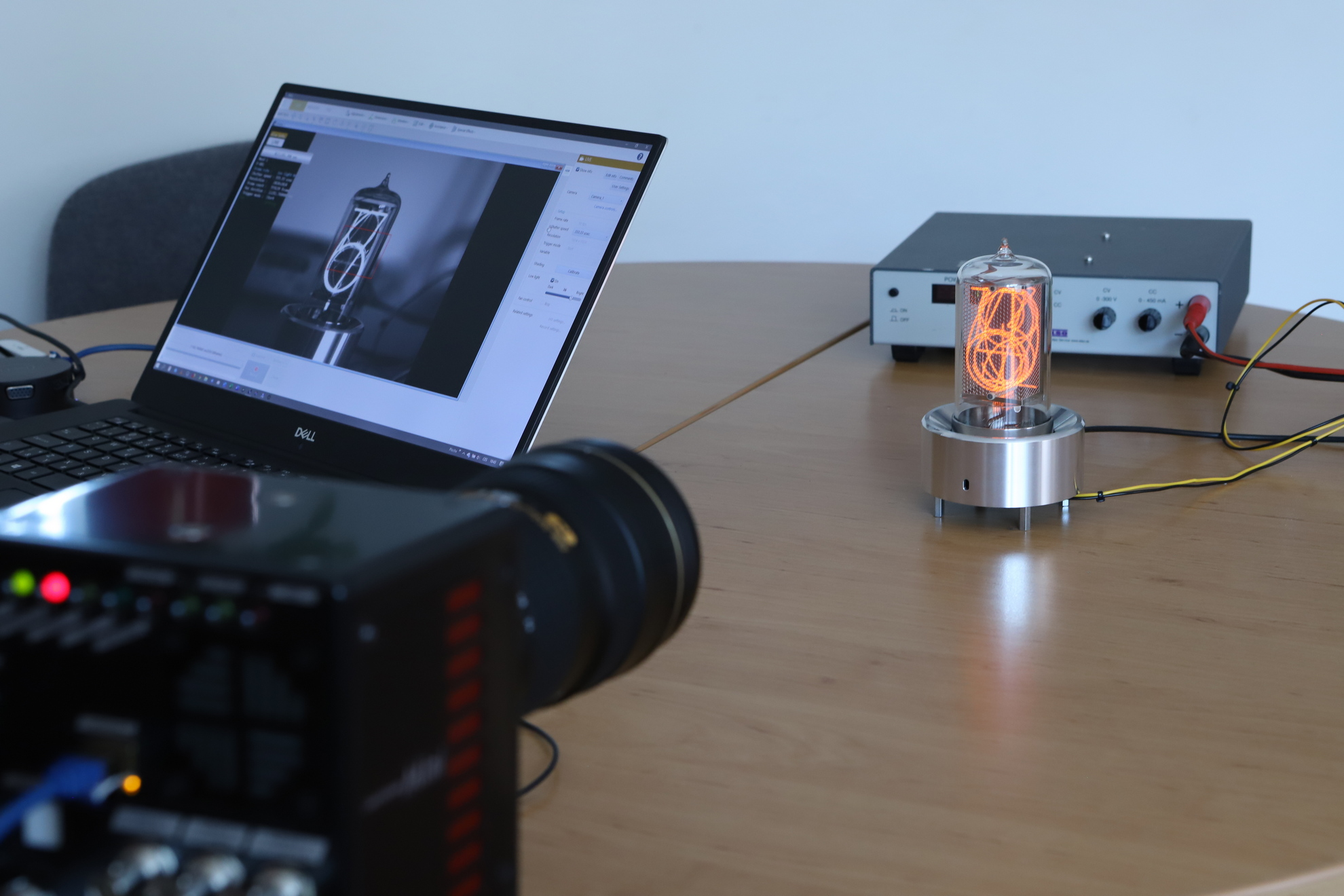 Nixie tube on a high speed camera