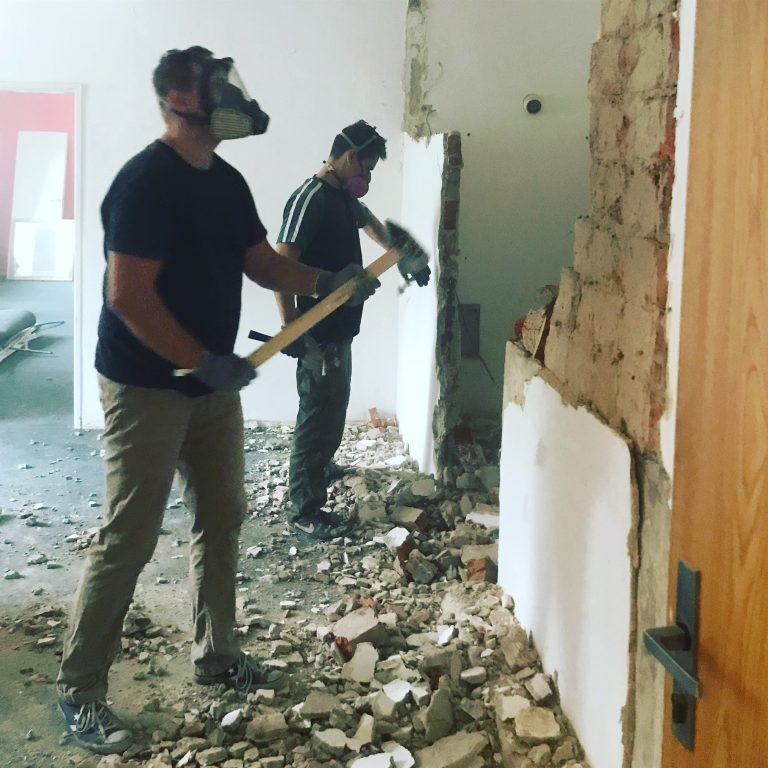 New rooms under construction